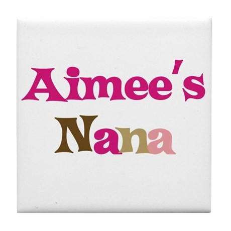 Aimee's Nana Tile Coaster
