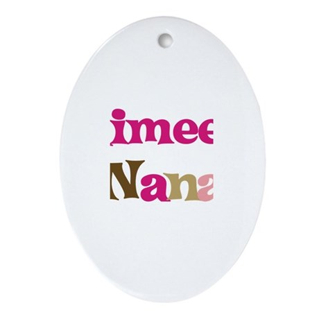Aimee's Nana Oval Ornament