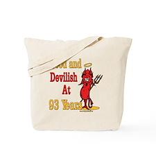 Devilish at 93 Tote Bag