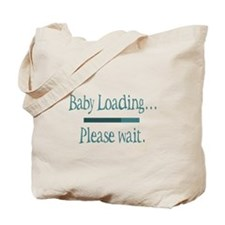 Blue Baby Loading Please Wait Tote Bag