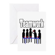 """Teamwork Flip Cup"" Greeting Cards (Pk of 20)"