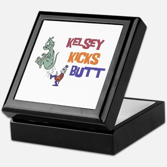 Kelsey Kicks Butt Keepsake Box