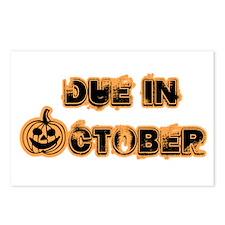 Orange Pumpkin Due October Postcards (Package of 8