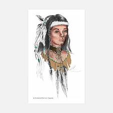 Native American Warrior Decal