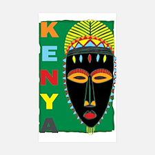 Kenyan Mask Rectangle Sticker 50 pk)