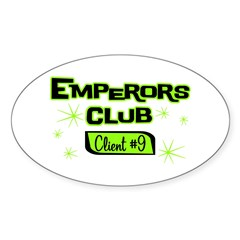Emperors Club Client 9 Oval Decal