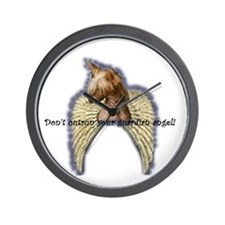 Chinese Crested Angel Wall Clock