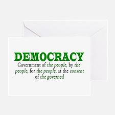 DEMOCRACY Greeting Card