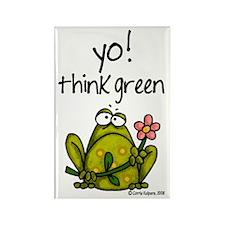 Yo! think green Rectangle Magnet