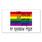 My Rainbow Pride Rectangle Sticker 10 pk)