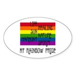 My Rainbow Pride Oval Sticker (10 pk)