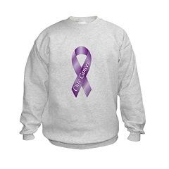 Cure Cancer Purple Ribbon Sweatshirt