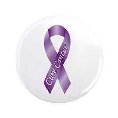 Cure Cancer Purple Ribbon 3.5