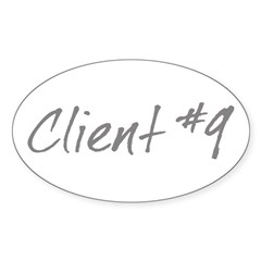 Client #9 Oval Sticker (10 pk)