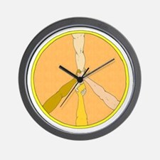 PEACE in ARMS Wall Clock