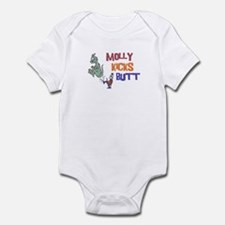 Molly Kicks Butt Infant Bodysuit