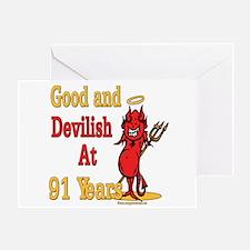 Devilish at 91 Greeting Card