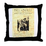 Bill and Bull Throw Pillow