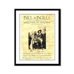 Bill and Bull Framed Panel Print