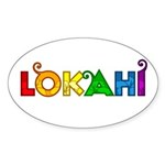 Rainbow Lokahi Oval Sticker (10 pk)