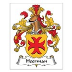 Heerman Family Crest Small Poster
