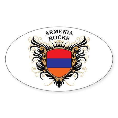 Armenia Rocks Oval Sticker