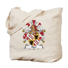 Heer Family Crest Tote Bag