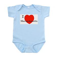 I Love Massachusetts Infant Creeper