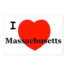 I Love Massachusetts Postcards (Package of 8)