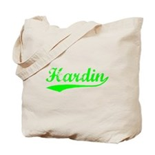 Vintage Hardin (Green) Tote Bag