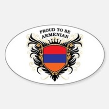 Proud to be Armenian Oval Decal