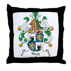 Heeg Family Crest Throw Pillow