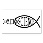Science Trumps Faith Rectangle Sticker 10 pk)