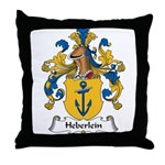 Heberlein Family Crest Throw Pillow