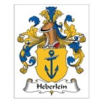 Heberlein Family Crest Small Poster