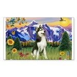 Mt Country & Husky Rectangle Sticker