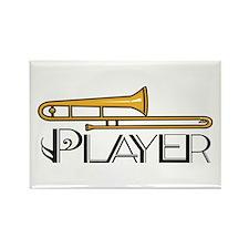 Trombone Player Rectangle Magnet