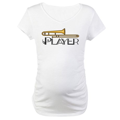 Trombone Player Maternity T-Shirt
