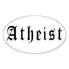 Atheist Oval Sticker (50 pk)
