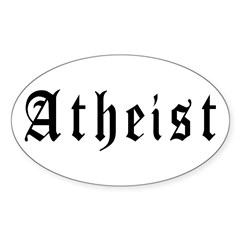 Atheist Oval Sticker (10 pk)