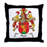Hayn Family Crest Throw Pillow