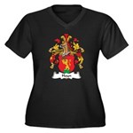 Hayn Family Crest Women's Plus Size V-Neck Dark T-