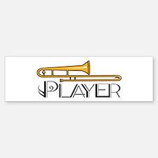 Trombone Player Bumper Bumper Bumper Sticker