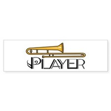 Trombone Player Bumper Bumper Sticker