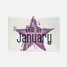 Purple Star Due In January Rectangle Magnet