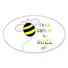 CANCER BUZZ OFF Oval Decal