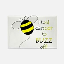 CANCER BUZZ OFF Rectangle Magnet