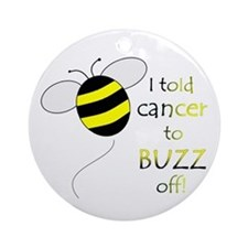 CANCER BUZZ OFF Ornament (Round)