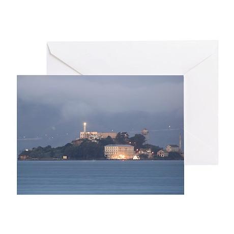 Alcatraz at Dawn Greeting Card