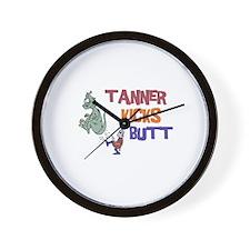 Tanner Kicks Butt Wall Clock